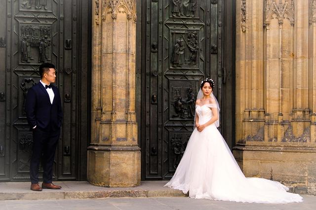 katedrála svatého víta ženich a nevěsta