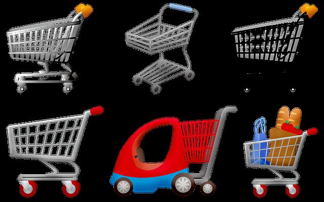 Typy nákupních vozíků